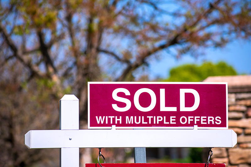 SOLD With Multiple Offers real estate sign